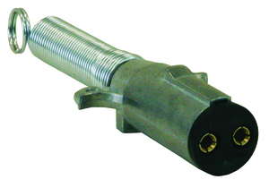 TC2002 by BUYERS PRODUCTS - 2-Way Die-Cast Zinc Trailer Connector -Trailer Side - Horizontal Pins with Spring