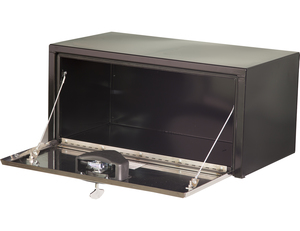 1703703 by BUYERS PRODUCTS - 14x16x30 Inch Black Steel Truck Box With Stainless Steel Door