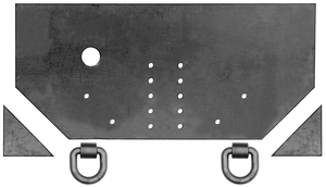1809040 by BUYERS PRODUCTS - Fabricators Hitch Plate 1/2 x 34 x 15-1/2 Inch