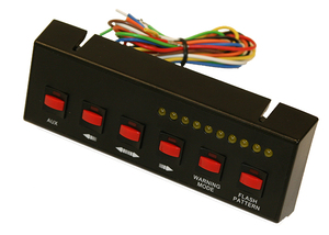 6391206 by BUYERS PRODUCTS - Black Pre-Wired 6-Switch Panel 4-On/Off 2-Momentary