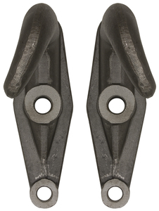 B2801A by BUYERS PRODUCTS - 2-Hole Plain Finish Drop-Forged Heavy Duty Towing Hook Pairs