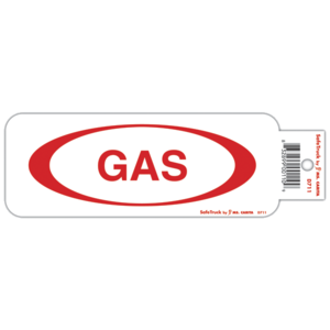 D711 by MS CARITA SAFE TRUCK - GAS DECAL