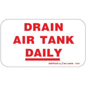 D789 by MS CARITA SAFE TRUCK - DRAIN AIR TANK DAILY