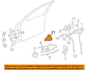 22574681 by GENERAL MOTORS - GM OEM Front Door-Armrest Retainer Left 22574681