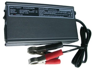 JAC0348MAN by SCHAUER BATTERY CHARGERS - Battery Charger-On Board 120/240 VAC Input, 48 VDC Output, 2.5A Charge Rate