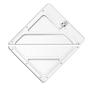 80SMW/S97 by LABELMASTER - SLIDEMASTER PLACARD HOLDER, SPLIT HOLDER, WHITE