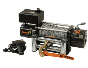 5571200 by BUYERS PRODUCTS - 12,000 Pound Electric Winch - 4.9 FPM - 294:1 Gear Ratio