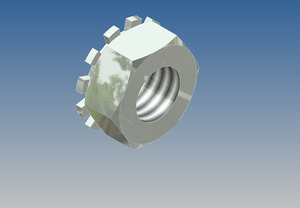10-1022-1 by WHITING DOOR MANUFACTURING - Kep Nut 1/4-20 Thread (#1207, #10-1010-3)