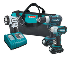 LXT311H by MAKITA - 3PC 18V LI-ION COMBO KIT