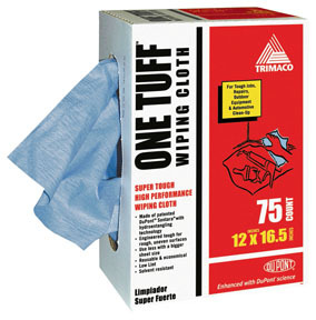 84075 by TRIMACO - One Tuff™ Wiping Cloths with DuPont™ Co-Brand, 12x16.5, 75 pack