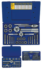 97606 by IRWIN HANSON - 66 Pc. Machine Screw / Fractional and Hex Die Set