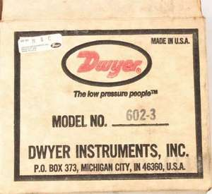 602-3 by DWYER INSTRUMENTS - PRESSURE TRANSMITTER