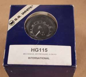 HG115 by S.S. WHITE INDUSTRIAL PROD - GAUGE AIR PRESSURE