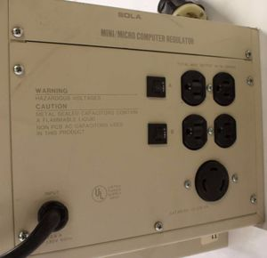 63-13-220-06 by SOLA HEVI-DUTY - POWER REGULATOR/CONDITIONER MCR2000 120V 16.7A