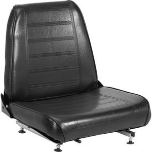 WM682-1 by WISE SEATS - Bottom Seat Cushion, Black Vinyl for 682 Series Seat