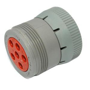 HD16-6-96S by DEUTSCH ELECTRIC - Plug, 6 Pin, Gray, Threaded Rear