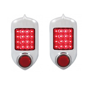 CTL5152LED-AS-2 by UNITED PACIFIC - Pair (2) of 1951-52 Chevy LED Brake Stop Tail Turn Light Assembly