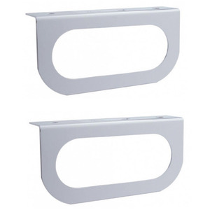 "20401-2 by UNITED PACIFIC - Pair (2) of Single Stainless Steel Brackets / Fits 6"" Oval LED Stop Turn Tail Lights"