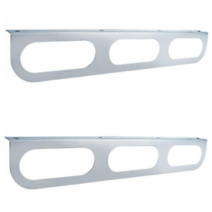 "20407-2 by UNITED PACIFIC - Pair (2) Triple Stainless Steel Brackets, Fits 6"" Oval LED Stop Turn Tail Lights"