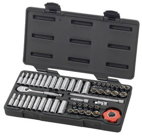 """80300 by GEARWRENCH - 51 pc. 1/4"""" Dr. 6 pt. SAE/Metric Socket Set"""