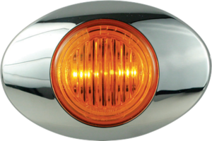 212235 by OPTRONICS - Kit: 2-LED yellow marker/clearance light with bezel