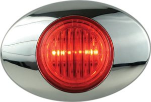 212237 by OPTRONICS - Kit: 2-LED red marker/clearance light with bezel
