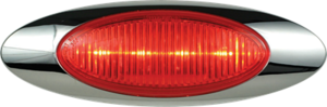 212337 by OPTRONICS - Kit: 4-LED red marker/clearance light with bezel