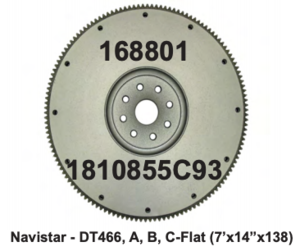 "1810855C93 by AMS CLUTCH SETS - Flywheel - NAV - DT466, A, B, C - (7""B x 14""OD x 138T)"