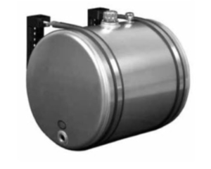 """A4535 by AMERICAN MOBILE POWER - Roll-formed cylindrical aluminum tank 1-1/4"""" NPT bottom ports, 35 Gallon"""