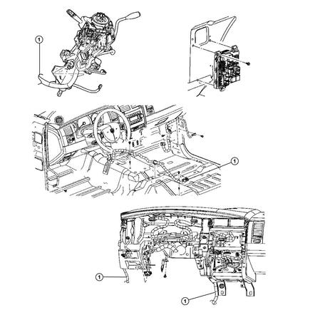 56049610ag by chrysler - wiring. instrument panel. diagram 1 mopar wiring diagrams instrument panel #8