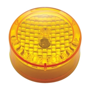 """33519 by UNITED PACIFIC - 2 1/2"""" Crystal Clearance/Marker Light - Amber Lens"""