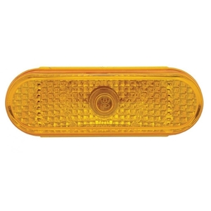33537 by UNITED PACIFIC - Oval Crystal Turn Signal Light - Amber Lens
