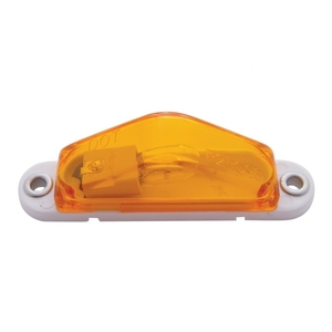 31170 by UNITED PACIFIC - Triangle Clearance/Marker Light w/ White Base - Amber Lens