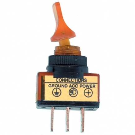 40092 by UNITED PACIFIC - Glow Duck Bill Toggle Switch - Amber