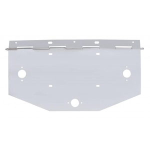 10491 by UNITED PACIFIC - Chrome 1 License Plate Angle Holder w/ Square Marker Light Cutout