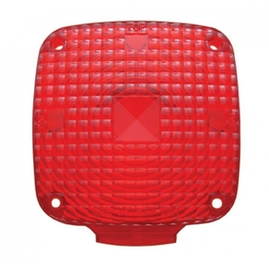 32080 by UNITED PACIFIC - Square Double Face Light Lens - Red