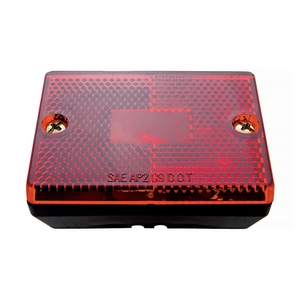 36013 by UNITED PACIFIC - Rectangular Clearance/Marker Light w/ Reflex Lens - Red Lens
