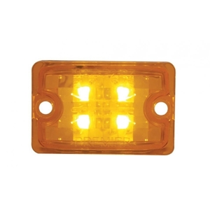 39511B by UNITED PACIFIC - 4 LED Small Rod Light Only - Amber LED/Amber Lens