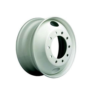 """29884PKWHT21 by ACCURIDE - Steel 19.5"""" x 6.00"""" Wheel - 5 Hand Holes - Powder Topcoat Coating Finish - White"""