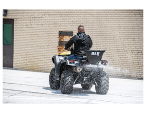 ATVS100 by BUYERS PRODUCTS - Horizontal Mount ATV All Purpose Spreader-100 Pounds