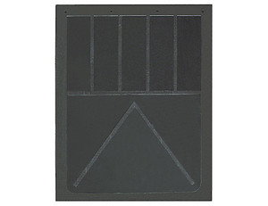 B30SRP by BUYERS PRODUCTS - Heavy Anti-Spray Black Rubber Mudflaps 24x30 Inch
