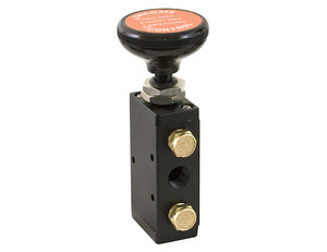 BAV015 by BUYERS PRODUCTS - 4-Way 3-Position Manual Air Valve With Five 1/4 Inch NPT Ports