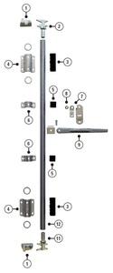 P360111 by POWERBRACE - Rod Guide Bearing, Item#5 in Kit Image