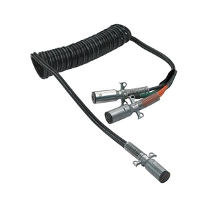 """23-2630 by PHILLIPS INDUSTRIES - Cable Assembly - Liftgate, Dual Pole """"Y"""" Adapter, Coiled, 15 Ft., 2/4 ga., with Zinc Die-Cast Plugs (Please allow 7 days for handling. If you wish to expedite, please call us.)"""