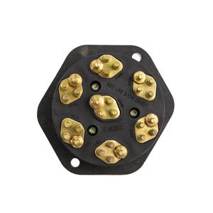 16-7632-28 by PHILLIPS INDUSTRIES - Socketbreaker - STA-DRY®, Composite, 28-Pin, Solid Pins, with 30 Amp Circuit Breakers (Please allow 7 days for handling. If you wish to expedite, please call us.)