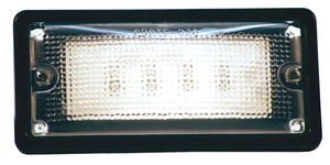 61760-3 by GROTE - Courtesy and Dome Rectangular LED Lamp, Courtesy, Rectangular, Red/White, 6 Diodes, 10 to 30-Volt, 150 Lumens, Black