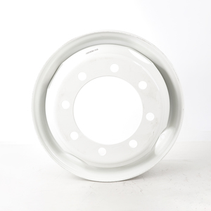 """50180PKWHT21 by ACCURIDE - Steel 19.5"""" x 6.75"""" Wheel - 4 Hand Holes - Powder Topcoat Coating Finish - White"""