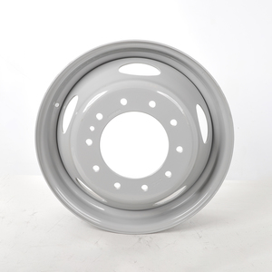 """29884PKGRY21 by ACCURIDE - Steel 19.5"""" x 6.00"""" Wheel - 5 Hand Holes - Powder Topcoat Coating Finish - Gray"""