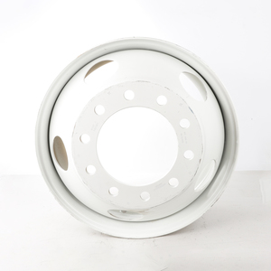 """50487PKWHT21 by ACCURIDE - Steel 22.5"""" x 8.25"""" Wheel - 5 Hand Holes - Powder Topcoat Coating Finish - White"""