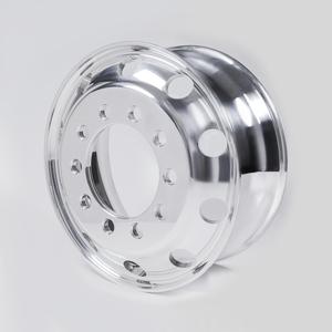 """41362XP by ACCURIDE - Aluminum 24.5"""" x 8.25"""" Wheel - 10 Hand Holes - Extra Polish"""